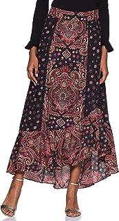 Label Black Assymetric Hem Long Skirt