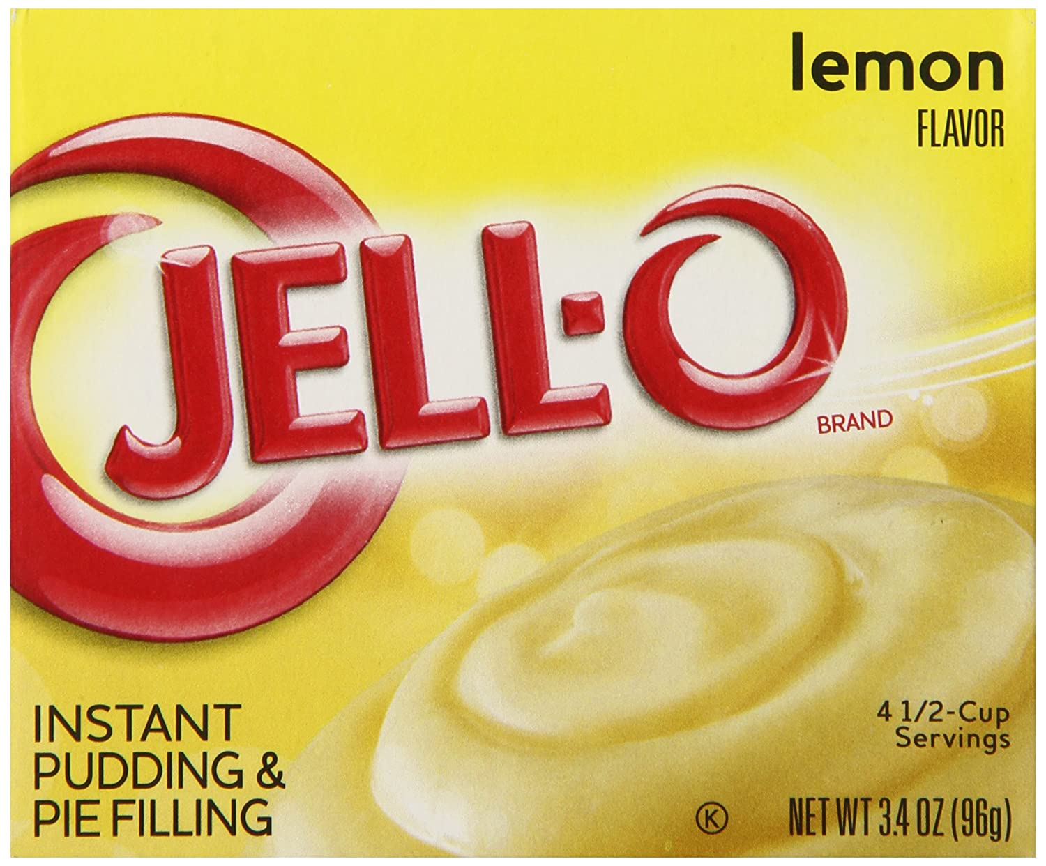 Jell-O Instant Pudding and Pie Filling, Lemon, 3.4-Ounce Boxes (