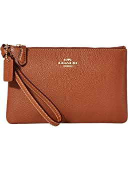 코치 리스틀릿 스몰 COACH Box Program Small Wristlet,1941 Saddle/Gold