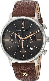 Maurice Lacroix Reloj Cronógrafo para Hombre de Cuarzo con Correa en Cuero EL1098-SS001-311-1