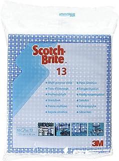 Scotch-Brite Chiffons de Nettoyage Bleu Lavette Multi-Surfaces 350 mm x 400 mm, Lot de 10