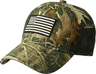 Men's Kanati Camouflage Baseball Cap, Embroidered, American Flag, one Size