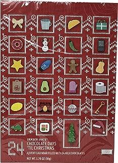 Holiday Advent Calendar Chocolates for Christmas, 24 Chocolate Days til' Christmas, Countdown Chocolate Calendar for Kids, Season Treats, Gift Ideas (Trader Joe's Chocolate Advent Calendar 2)