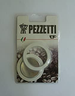 3 Rubber Seal/Rings+Filter -Replacement- Sizes 1,2,3,6,9,14 Cup Espresso coffee Maker Pot- 2.8 inch (6 Cup)