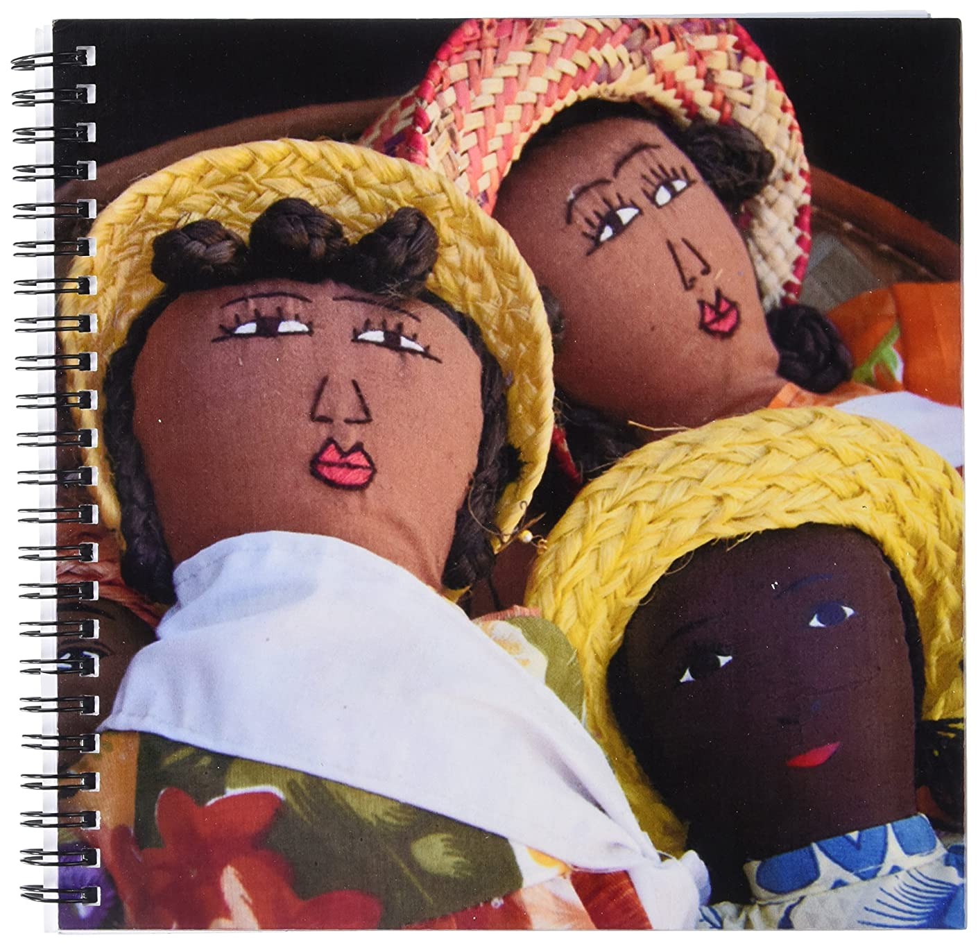 3dRose db_132045_1 Reunion Island. St Pierre, Market Dolls-Af34 Cmi0006-Cindy Miller Hopkins-Drawing Book, 8 by 8-Inch