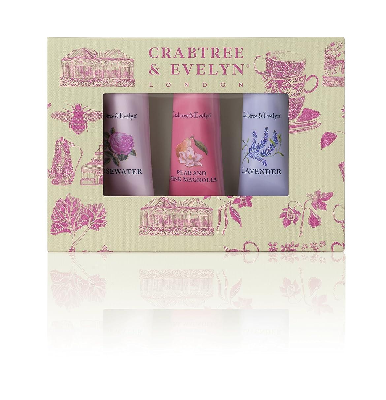 拍手航空便健康的クラブツリー&イヴリン Florals Hand Therapy Set (1x Pear & Pink Magnolia, 1x Rosewater, 1x Lavender) 3x25g/0.9oz並行輸入品