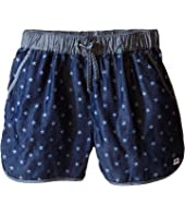 Appaman Kids - Soft Chambray Harper Track Shorts with Bleached Star Design (Toddler/Little Kids/Big Kids)