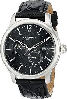 Akribos XXIV Men's AK537BK Ultimate Stainless Steel Automatic Multifunction Strap Watch