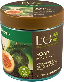 EO Laboratorie natural & organic Body And Hair Emerald Soap With Moisturizing Avocado Oil, 450 ml