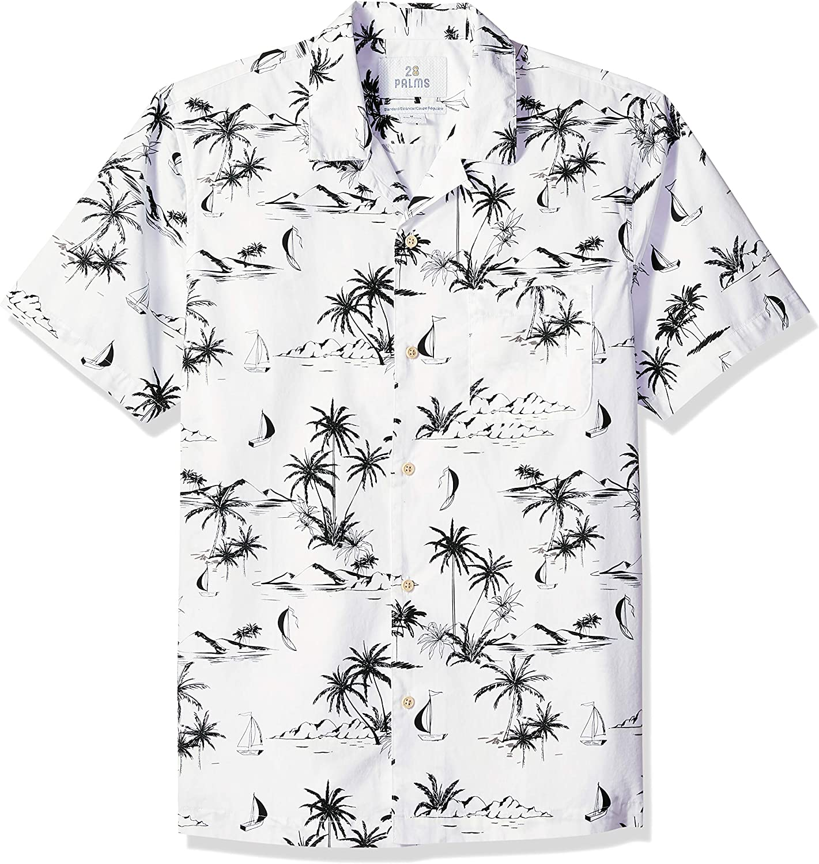28 Palms Men's Standard-fit 100% Cotton Tropical Sale special price [Alternative dealer] Hawaiian Shirt