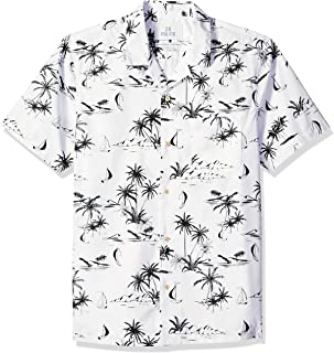 Amazon Brand - 28 Palms Men's Standard-Fit 100% Cotton Tropical Hawaiian Shirt
