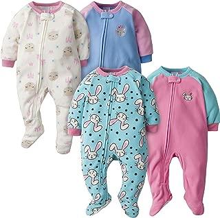 GERBER Baby Girls' 4-Pack Blanket Sleeper