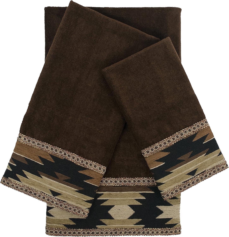 Sherry Kline Super popular specialty store Phoenix Ranking TOP2 Brown 3-Piece Embellished Set Towel