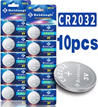 Beidongli CR2032 Battery 3V Lithium Battery Coin Button Cell 10 Pack 【5-Year Warranty】