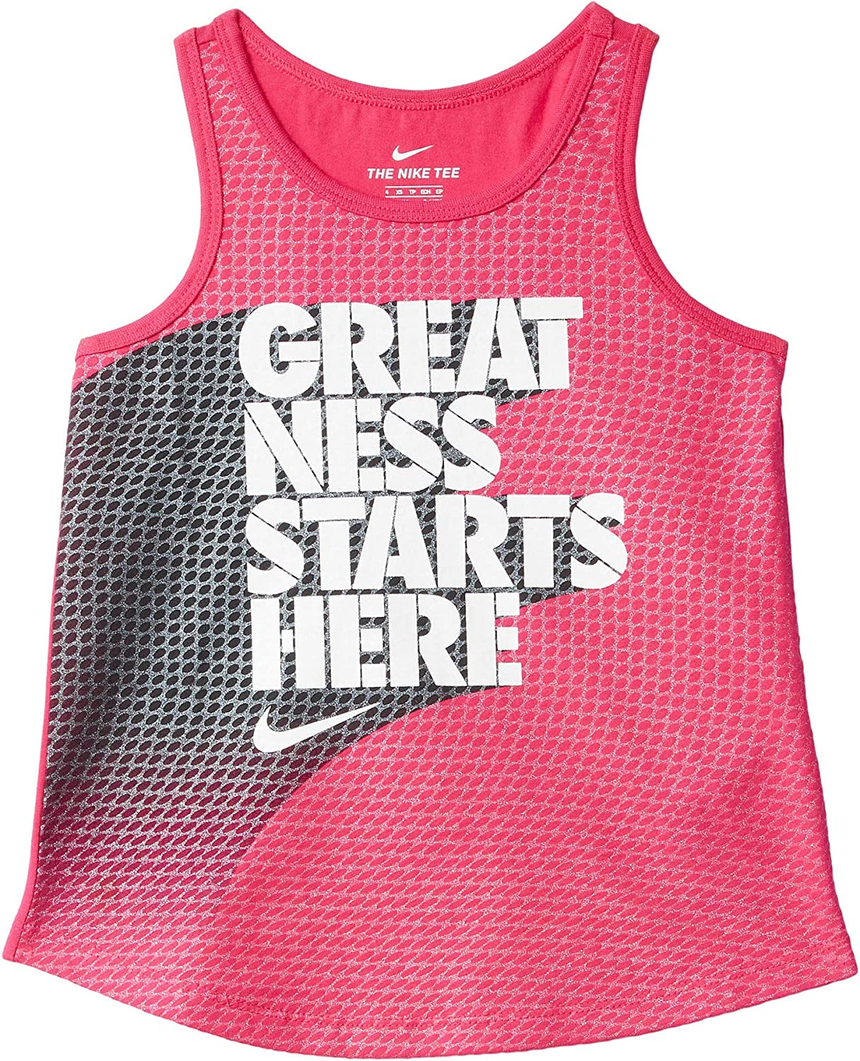 Nike Girl's Greatness Starts Here Graphic Tank Top (Little Kids)