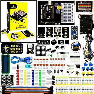 KEYESTUDIO Starter Kit Compatible with Arduino IDE w/ R3 Board, Tutorial, Sensor Kit, Solderless Breadboard Includes 35 In...
