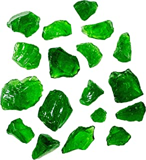 Hiland Fire Pit Fire Glass in Green, Extreme Tempature Rating, Good for Propane or Natural Gas, 10 Pounds