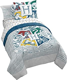 Jay Franco Harry Potter Witchcraft & Wizardry Twin/Full Comforter, Gray