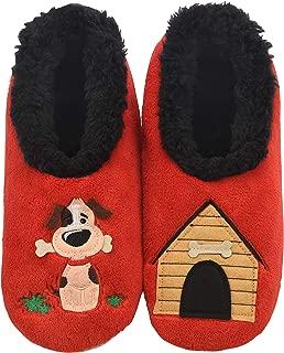 blue polka dot slippers