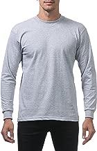 Pro Club Men's Heavyweight Cotton Long Sleeve Crew Neck T-Shirt