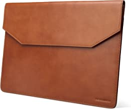 Kasper Maison Italian Leather Laptop Sleeve for 13 Inch New MacBook Pro Touch Bar 2016/2017 and Microsoft Surface Pro - Envelope Case for Computer, Notebook and ultrabook - Signature Gift Included