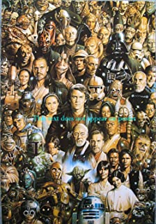 Star Wars character guide busy POSTER 14.5 x 21 higher qual all major chars from episodes 1 through 6 Darth Vader Luke Anakin Skywalker (sent FROM USA in PVC pipe)