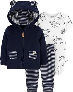 Carter's 3-Piece Baby-boy Little Jacket Set (Animals Black/White