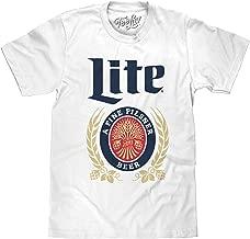 Tee Luv Miller Lite T-Shirt - Vintage Miller Lite Shirt (White)