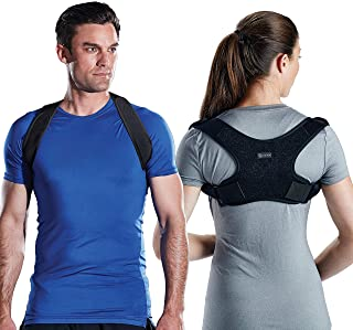 Gaiam Restore Posture Corrector for Women & Men - Back Straightener Adjustable Straps Compact Brace Support for Clavicle, ...