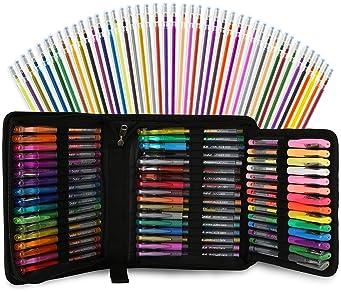 30 Gel pens Flair Shine Sparkled GLITTER METALLIC NEON 0.7 mm Fine Tip art craft