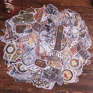 Autocollants de scrapbooking, autocollant de décoration de papier Lychii 240pcs avec éléments rétro, autocollants adhésifs...