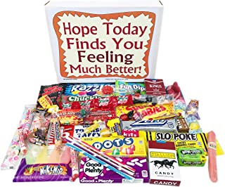 Woodstock Candy Feel Better Soon Care Package for Kids Men or Women - Get Well Gift Box of Retro Nostalgic Candy