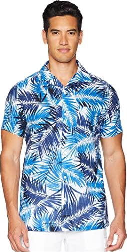 onia Vacation Brushed Palm Shirt