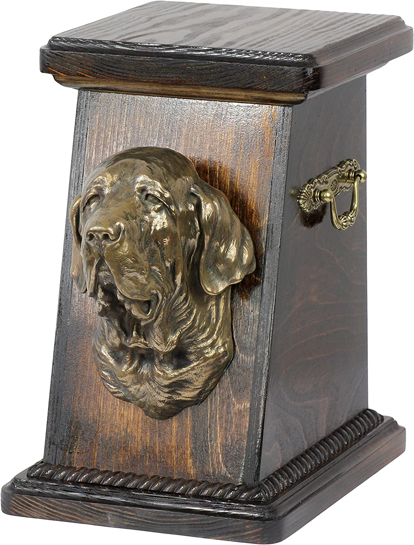 Fila Brasileiro, memorial, urn for dog's ashes, with dog statue, ArtDog
