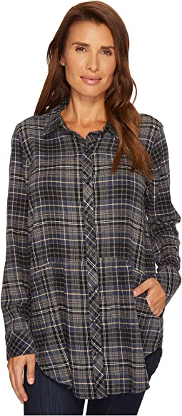 Mod-o-doc - Cotton Flannel Plaid Long Sleeve Flannel Shirt with Front Pockets