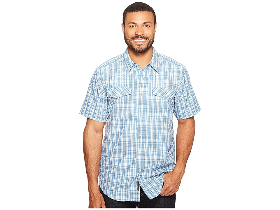 ExOfficio Arruga Plaid Short Sleeve Shirt (Deep Water) Men