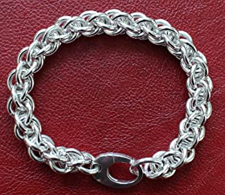 Handmade Sterling Silver Jens Pind Chainmaille Bracelet - 8.0 inches
