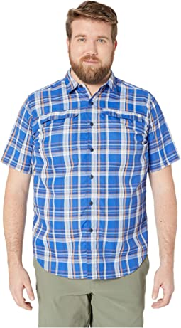 Big and Tall Silver Ridge 2.0 Multi Plaid Short Sleeve Shirt