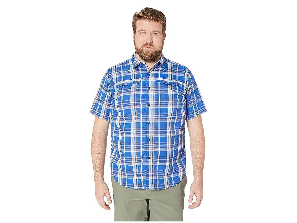 Columbia Big and Tall Silver Ridge 2.0 Multi Plaid Short Sleeve Shirt (Azul Plaid) Men
