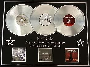 EMINEM/TRIPLE PLATINUM ALBUM DISPLAY/LTD. EDITION/THE SLIM SHADY LP + THE MARSHALL MATHERS LP + THE EMINEM SHOW/COA