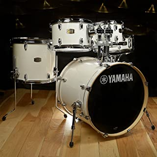 Yamaha Stage Custom Birth 5-Piece Drum Kit, Pure White – Legendary Recording Custom Drum Set Design with YESS Mounting System