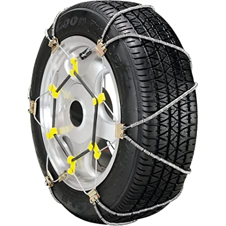 and SUVs Set of 2 Pickups Security Chain Company SZ133 Super Z6 Cable Tire Chain for Passenger Cars