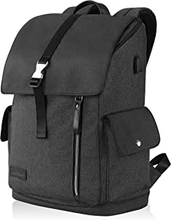 """KROSER Laptop Backpack 17.3"""" XL Travel Business Anti-Theft Large Computer Backapck Water-Repellent College School Daypack with USB Charging Port for Women/Men-Black"""