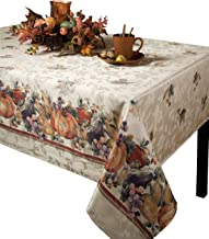 Benson Mills Jubilee Printed Jacquard Tablecloth For Thanksgiving, Harvest and Fall (150cm X 300cm Rectangular)