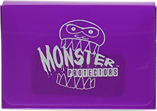 Monster Protectors Trading Card Double Deck Box with Magnetic Closure - Purple (Fits Yugioh, Pokemon, Magic the Gathering ...