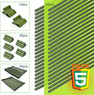 CHAIRLIN Tomato Cage Plant Stakes Plant Support Plant Cage Plant Stems Plant Trellis for Potted Plants with Plant Clips Garden Stakes 5Sets