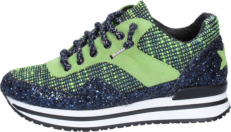 2 STAR guld Mode -skor kvinnor kvinnor kvinnor grön  golvpris