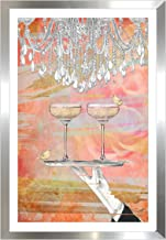 Picture Perfect International Cheers Peach by by Jodi Framed Plexiglass Wall Art
