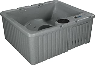 Essential Hot Tubs 14 Jets Newport Lounger, Rotationally Molded Hot Tub, Grey Granite