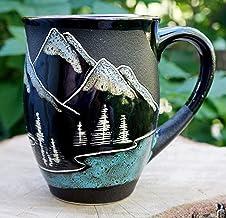 Mountain coffee mug, Handmade large tea cup,16oz, Gift for husband mug, Adventure awaits Mugs
